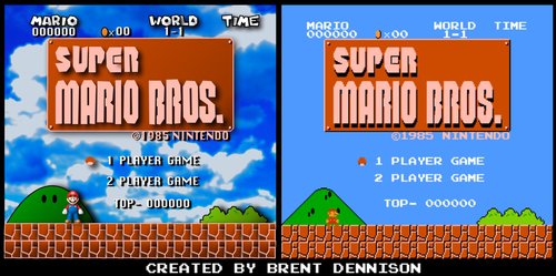 Super Mario Bros. Title Screen by BrentDennison