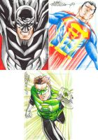 Comics for Cures Sketchcards by MarcFerreira