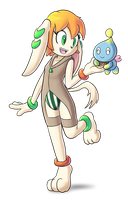 Milla with Chao by goshaag