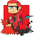 Chibi Maxie and his pokemon Contest Entry by RikoriStorm