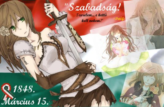 March 15, 1848 - I remember, Hungary-chan... by Ereni-chan