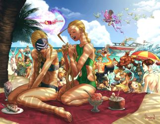 Street Fighter Swimsuit Special- UDON by PnzrK