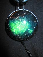 Green Galaxy Headphones (Right) by GuardianOfTheRose