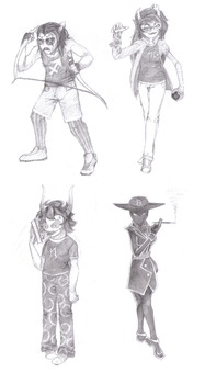 Homestuck Sketch Dump by Fire-of-Heaven