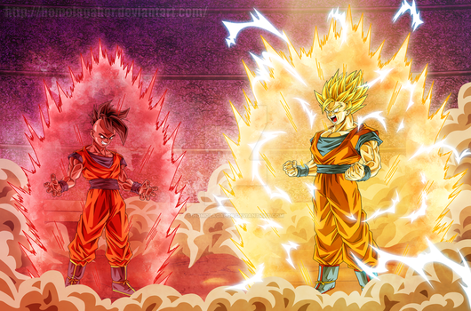 Commission: DragonBall Multiverse - Uub Vs Goku