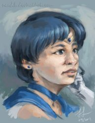 Portrait - Sailor Mercury by Nendil