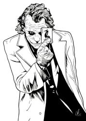 The Joker - Here's My Card by DynamixINK