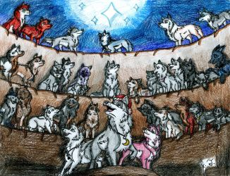A Merry Canis Lupus Christmas by joshbluemacaw