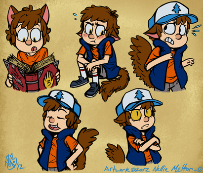 Werecat Dipper Reaction Images by spookydoom