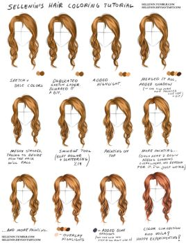 Hair coloring tutorial + video tutorial by Sellenin