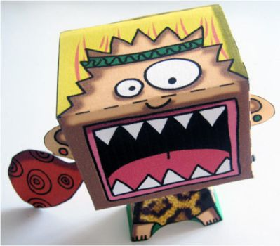 Cri Primal - Primal Scream Paper toy by coco-flower