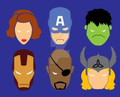 Avengers Face by digikolobong