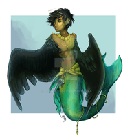 mer-harpy full paint commission by josikaea