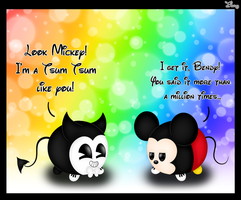 -Mickey and Bendy (Tsum Tsum)- by TheTigressFlavy