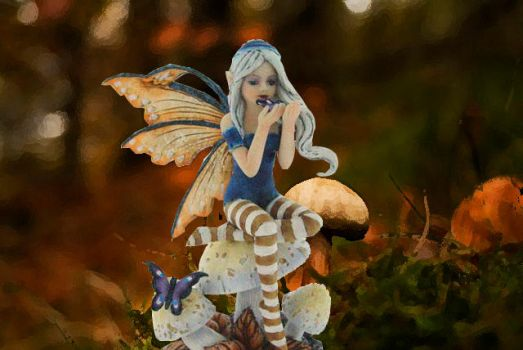 Little Friend Autumnal Fairy Figurine by nemesisnow23