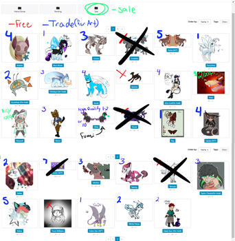 Character Clearout -=Read Description=- by NovaStar134