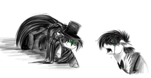 Jekyll/Hyde Rorshach sketches by AzulaGriffon