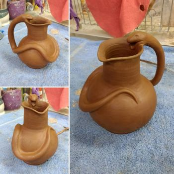 Snake Handle Pitcher WIP by A-Girl-Named-Chester