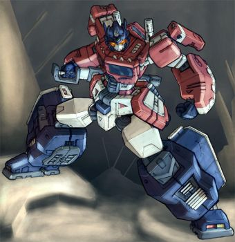 Optimus Prime Stance by Blitz-Wing
