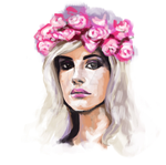 Lana del Ray  with speed paint video