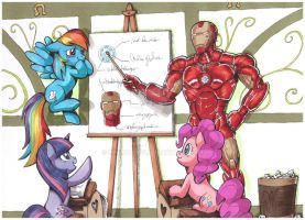 Iron Man at Equestria by InnuDoggy