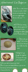 Cosplay Helmet tutorial: Low Budget ver. by Pureangelz