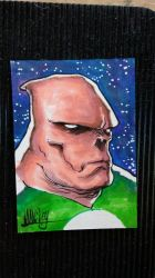 Kilowog Copic sketchcard by Shawn-Langley