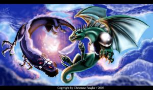 Dragon heaven by chrissi-dinos
