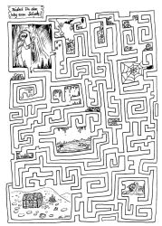 My first dungeon: find the way to the treasure by IannaBaskerville