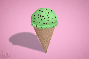 One Mint Chocolate Chip Ice Cream Please by RymNotrim