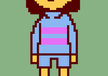 Stand-in Pixel Art - Frisk by Triangle-cat