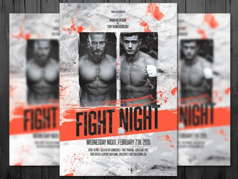 MMA / Fight Night / Boxing Fight Flyer / UFC by platinumflyers