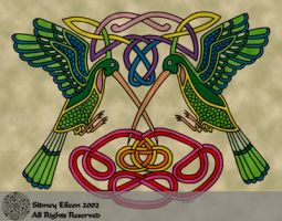 Celtic Hummingbirds by sidneyeileen