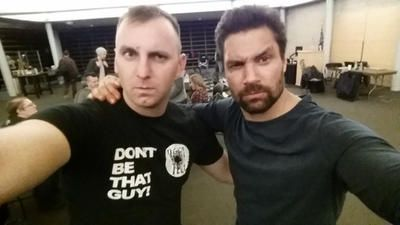 Manu Bennett and I by PhoenixCreed