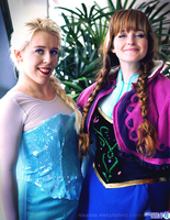 Elsa and Anna: Family Portrait by RoxannaMeta