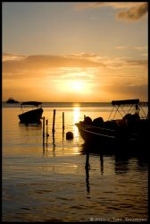 Sunset at Boqueron by Vamppy