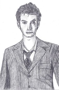The 10th Doctor--David Tennant by lilarcher
