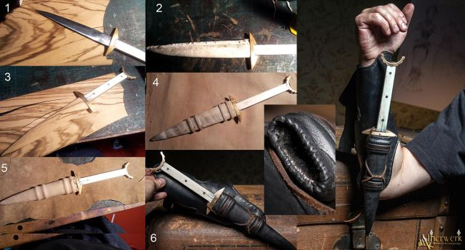 Making of - customized Dagger sheath and bracer by Aetherwerk