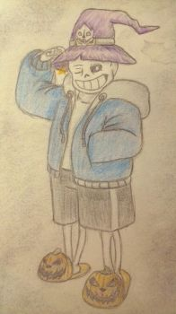Sans Witch by Dragon-RainbowBeanie
