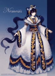 Adult Nemesis - gown design by Red-Priest-Usada