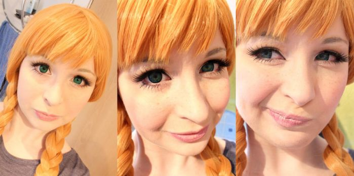 Wig + Make-Up Test: Anna from Disney's Frozen by e-l-y-n-n