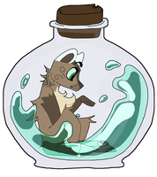 Stuck in a bottle   ych #1 by PastelBliss