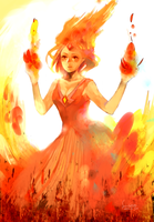 Adventure time_Flame princess by Fengta