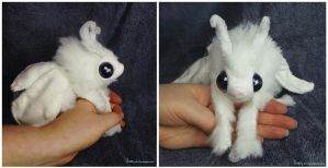 Selti the Poodle Moth Art Doll SOLD by Sovriin