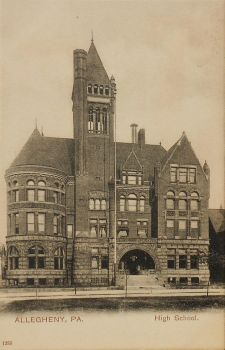 Vintage Pennsylvania - Allegheny High School by Yesterdays-Paper