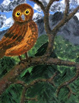 Owl in the wild by HannaTheGlow