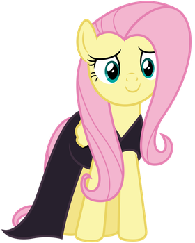 Vector 038 - Fluttershy in Nightmare Night Dress by MPnoir