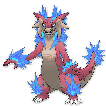 The Iguana Fakemon by Neliorra