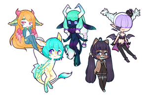 Sticker Chibies [C] by LucciolaCrown