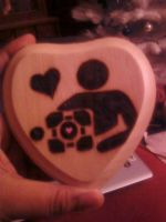 Portal heart woodburning by cutiechibi